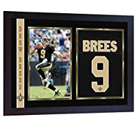 S&E DESING Drew Brees New Orleans Saints NFL Signed Autograph Photo Print Framed