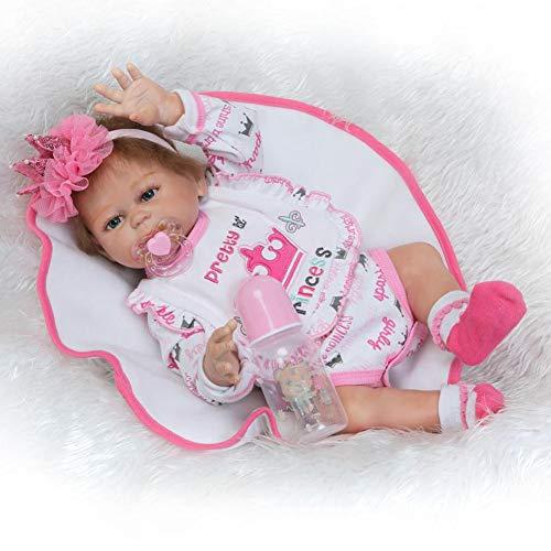 Dytxe-doll Muñecas Hechas A Mano para Bebés Renacidos 48 Cm 19 Pulgadas Gemelos Bebés Silicona Vinilo De Cuerpo Completo Muñecas para Bebés Recién Nacidos con Atuendos (Twins),B