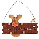 木吊りクリスマスペンダントパーティー小道具祭透かし彫り手紙木製エルク