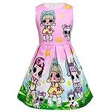 Thombase Baby Mädchen Kinder LOL Puppen überraschen Prinzessin Fancy Party Kleider (Rosa1, 110...