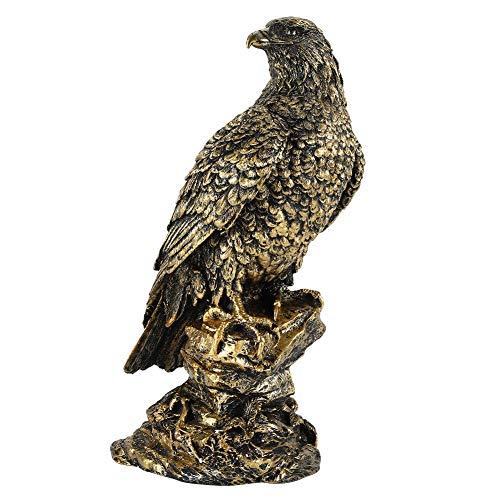 HERCHR Bald Eagle Garden Statue, Bronze Resin Figurine Garden Decoration Ornament