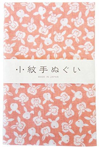 宮本 小紋手ぬぐい ももうさぎ 33×90cm 33352