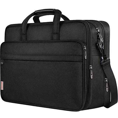 18.4 inch Laptop Bag, Extra Large Briefcase for Men Women, Travel Business Laptop Shoulder Bags, Waterproof Expandable Computer Bags Carrying Case Fits 18.4 inch Laptop, Notebook and Ultrabook
