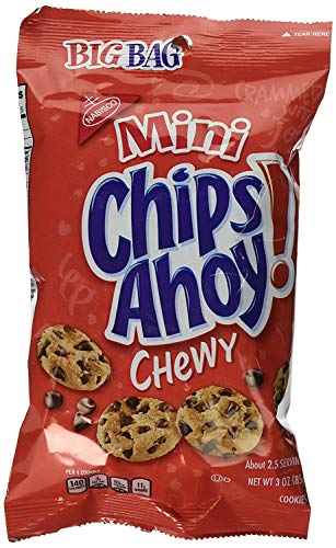 Mini Chips Ahoy! Chewy Chocolate Chip Cookies, Gears 5 Edition, Free In-Game Content, 12 Big Bags (3 Oz.)