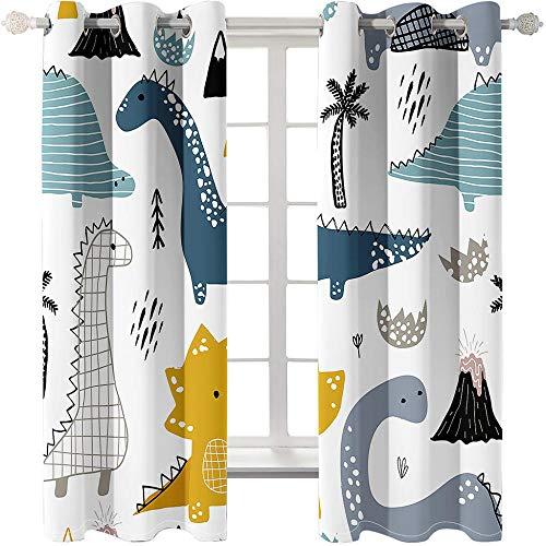 BLZQA Schlafzimmer Vorhang Polyester Ösenvorhang Blickdicht 150 cmx 166 cm, Vorhänge Schlafzimmer Verdunkelung...