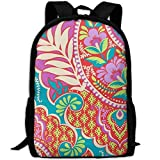 TTmom Cartables,Sac à Dos Loisir, Floral Pattern Print Custom Casual School Bag...
