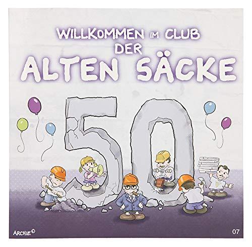 Depesche 3865.007 Glückwunschkarte mit Musik und Motiv von Archie, 50. Geburtstag, Mehrfarbig