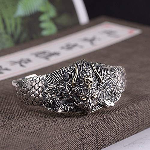 THTHT S 925 Vintage Damesarmband, zilver, verlicht in 3D-boeddhistisch Bird Dragon weegschaal, creatief carving temperament, persoonlijkheid, geschenk Chinese klassieker