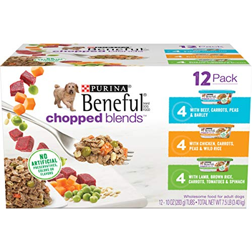 Purina Beneful Wet Dog Food Variety Pack, Chopped Blends - (12) 10 oz. Tubs
