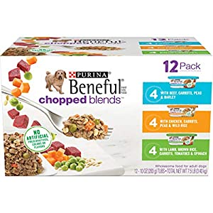 Purina Beneful Wet Dog Food Variety Pack, Chopped Blends – (12) 10 oz. Tubs