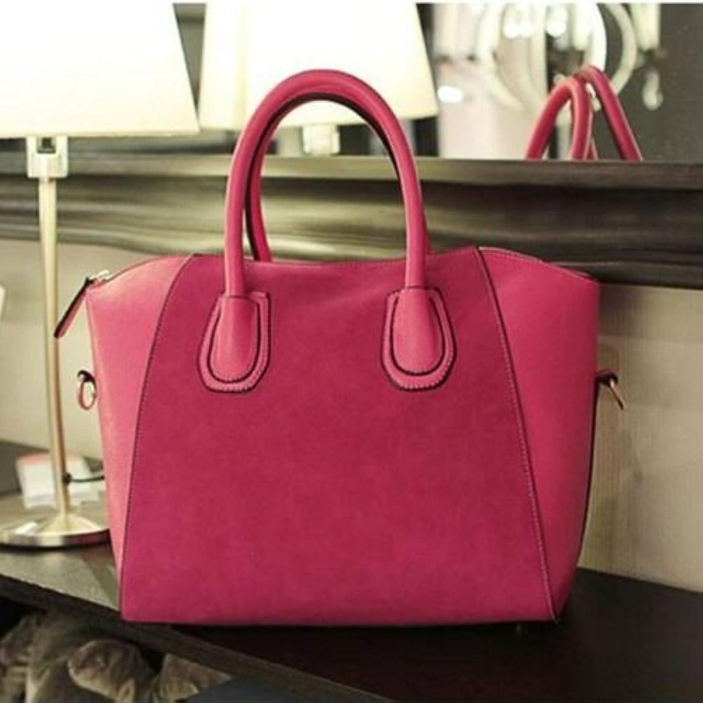 バケット郡磁気トートバック/ショルダーバック/ハンドバック/New Fashion Solid Black Red Blue Color Zipper Pocket Shoulder Bag For Women