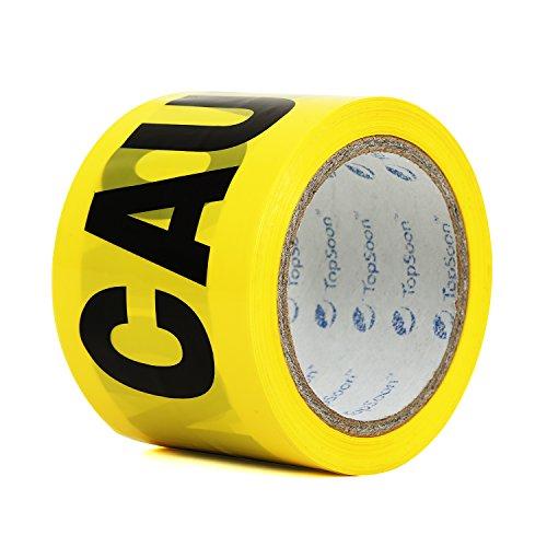 TopSoon Yellow Vorsicht Tape Barricade Tape Sicherheitswarnung Barrier Tape 3-Zoll x 300-Fuß-Rolle Nicht klebend