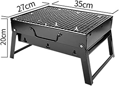 SCYMX Charcoal Grill Folding Portable Lightweight Barbecue Grill Tools for Outdoor Grilling Cooking Camping Hiking Picnics Tailgating Backpacking Party