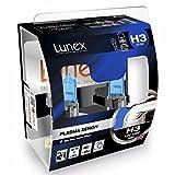 LUNEX H3 PLASMA XENON, Lampadine Alogene Faro, 12V 55W PK22s, 5000K duobox (2 units)...