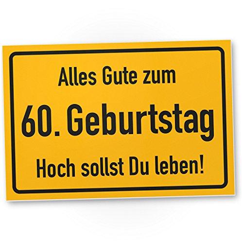 DankeDir! 60. Geburtstag Stadtschild - Kunststoff Schild Geschenk 60. Geburtstag Geschenkidee Geburtstagsgeschenk Sechzigsten Geburtstagsdeko Partydeko Party Zubehör Geburtstagskarte