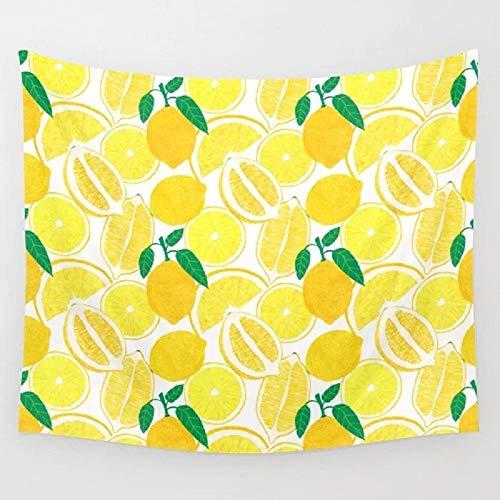 Tapiz de Cosecha de limón, Tapiz de Fruta para Colgar en la Pared, Alfombra para habitación, Colcha de Playa, tapices, Accesorios artísticos para el hogar, 150x110cm
