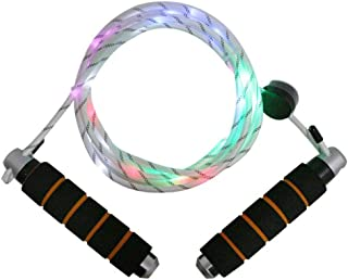 Light Up Jump Rope,26 LEDs Multi-Color Lighted Jump Rope, USB Rechargeable, LED Jump Rope Light Show for Kids Girls Boys Adults -9 ft (Length can be Adjustable for Every one)