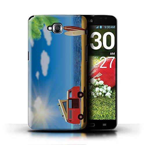 Stuff4 - Carcasa para móvil, diseño hipster hippie Para playa y surf. LG G Pro Lite/D680