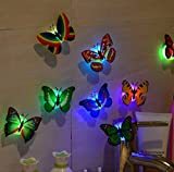 Night Light,Tuscom@ 10 Pcs LED Butterfly Wall Stickers Lights Wall Stickers 3D House Decoration