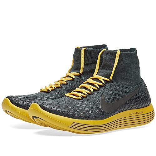 Nike Women's Lunarepic Flyknit Shield GYAKUSOU Shoe (7, Seaweed/White/Black/Gold Lead)
