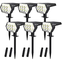 6Pack Whousewe 108 LEDs Outdoor Solar Powered Spot Lights