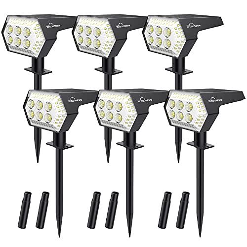 Spot Solaire Extérieur, Whousewe Lampes Solaires Etanche 108 LED IP65 Projecteur Solaire Réglable Eclairage Extérieur Solaire pour Jardin...