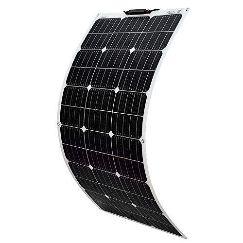 YUANFENGPOWER Módulo solar monocristalino de panel solar flexible de 100w 18v para barcos, yates, camping, caravanas, casas móviles, carga de batería de 12v, cargador para exteriores