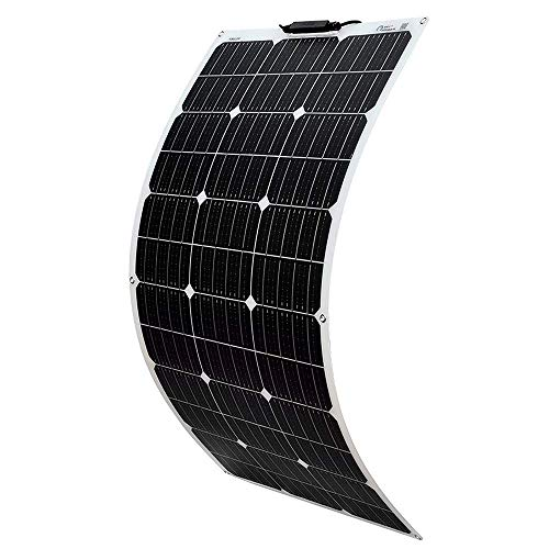 YUANFENGPOWER 100w 18v Flexibles Solarpanel monokristallines Solarmodul für Boot, Yacht, Camping, Caravan, Wohnmobil, 12v Batterieladen,Outdoor-Ladegerät