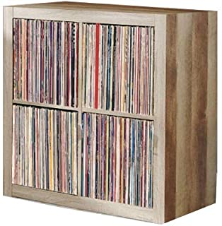 Vinyl Record Storage Shelf | LP Record Album Storage | Vinyl Record Storage Cube, Rack, Cabinet, Bookcase, Organizer for Vintage LP Records | 4 Cube Square Organizer by VRSS (Weathered)