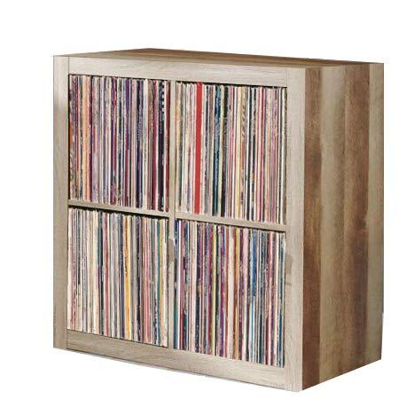 Vinyl Record Storage Shelf   LP Record Album Storage   Vinyl Record Storage Cube, Rack, Cabinet, Bookcase, Organizer for Vintage LP Records   4 Cube Square Organizer by VRSS (Weathered)