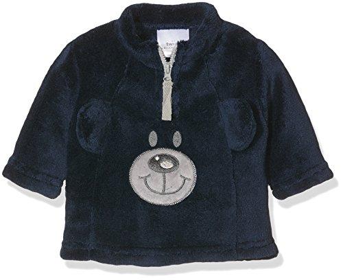 Twins Baby-Jungen Fleece Pullover Teddybär,Blau (Marine 114), 68