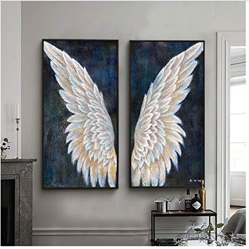 nr Gran Lienzo Arte de la Pared Vertical Vintage alas de ángel Pintura Moderna decoración de la Sala Mural hogar 40x80x2Pcscm Sin Marco