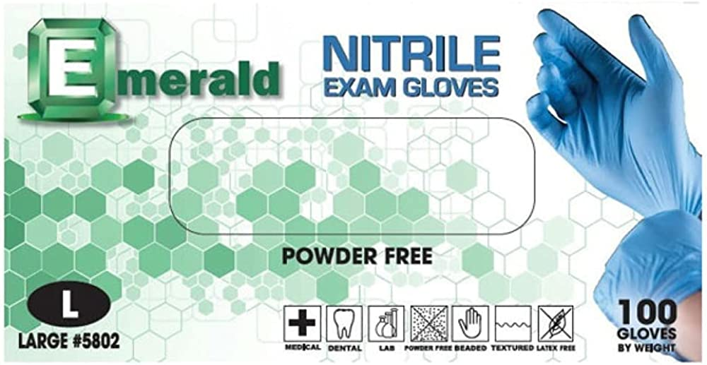 4 years warranty 1000ct Emerald Nitrile Exam Gloves Powder Latex Medical and Free Oakland Mall