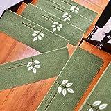 EMOOJOO treppenstufen matten, Selbstklebende Treppenauflagen, rutschfeste Treppenabdeckungen, mit Leuchtdisplay, rutschfeste maschinenwaschbare Matten, 22x50 / 70cm-15St (70 * 22 * 4.5cm,D)