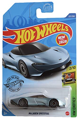 DieCast Hotwheels McLaren Speedtail 227/250 [Steel Blue], Exotics 2/10