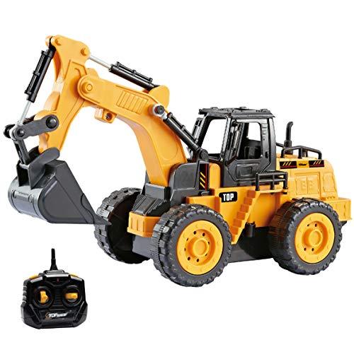 Top Race Camiones de construcción con Control Remoto para niños pequeños, Elija Entre Nuestros 3 diseños fabulosos (Excavadora (111S))
