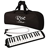 Rise by Sawtooth Piano Style Melodica with 32 Keys, Black, (ST-RISE-MEL-32-BLK)