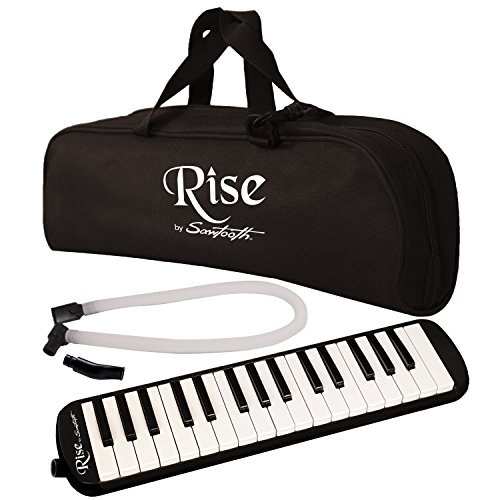Rise by Sawtooth Piano Style Melodica with 32 Keys, Black