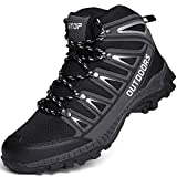 Mens Hiking Boots Breathable Lightweight Trekking Backpacking Mountaineering Boots High-Traction Grip Outdoors...