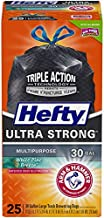 Hefty Ultra Strong Multipurpose Large Black Trash Bags - White Pine, 30 Gallon, 25 Count