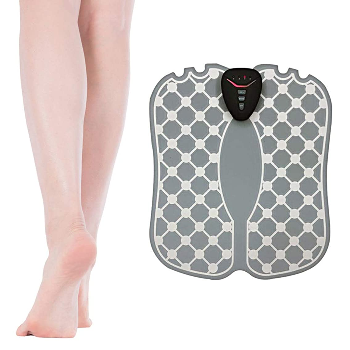 へこみ靴下語フットマッサージャー、足底脈拍、マッサージクッションABS理学療法活性化ペディキュア10足バイブレーターワイヤレスマッスルスティミュレーターUSB充電式