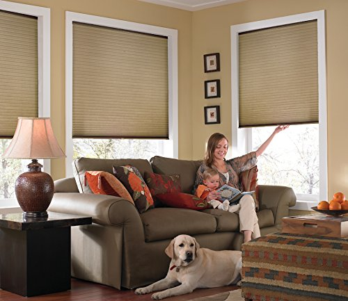 "Custom Cordless Single Cell Shades, 24W x 42H, Antique Linen, Any size from 21"" to 72"" wide and 24"" to 72"" high Available"