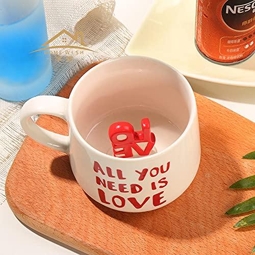 Creative Mug 3D Stereo Coffee Cup Cute Ceramic Home Coffee Cup Mug 350ml Love in hd238 New Cup