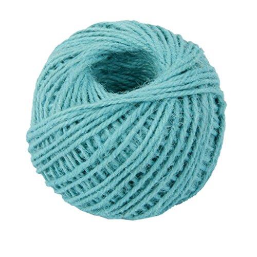 AK.SSI Corde en chanvre pour emballage cadeau, corde à boule, bricolage, décoration, bouteille en verre, 1 pièce, taille 50 m (bleu)