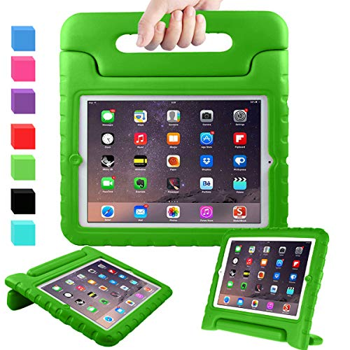 AVAWO Kids Case for 9.7 iPad 2 3 4 (Old Model) - Light Weight Shock Proof Convertible Handle Stand Kids Friendly for iPad 2, iPad 3rd Generation, iPad 4th Generation Tablet - Green