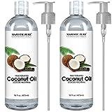 Majestic Pure Fractionated Coconut Oil - Relaxing Massage Oil, Liquid Carrier Oil for Diluting Essential Oils - Skin, Lip, Body & Hair Oil Moisturizer & Softener - 16 fl oz - Set of 2
