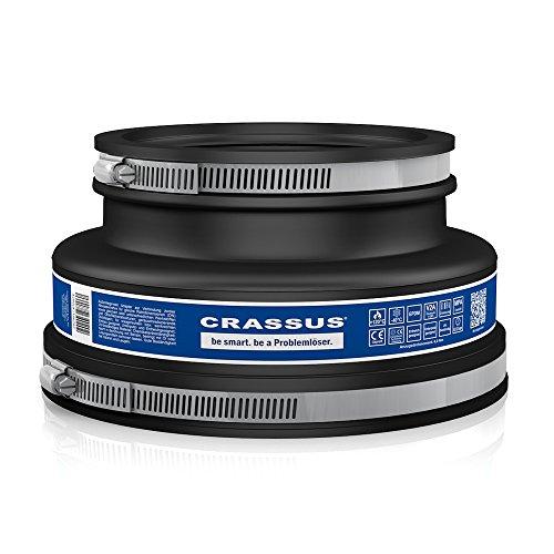 Crassus Adapterkupplung CAC 1702, EPDM / V2A, 1 Stück, 155-170 mm auf 110-125 mm, CRA12065