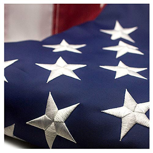 VSVO American Flag 3x5 ft - Durable 300D Oxford Nylon Outdoor Flags- UV Protected, Embroidered Stars, Sewn Stripes, Brass Grommets Outside US Flags.