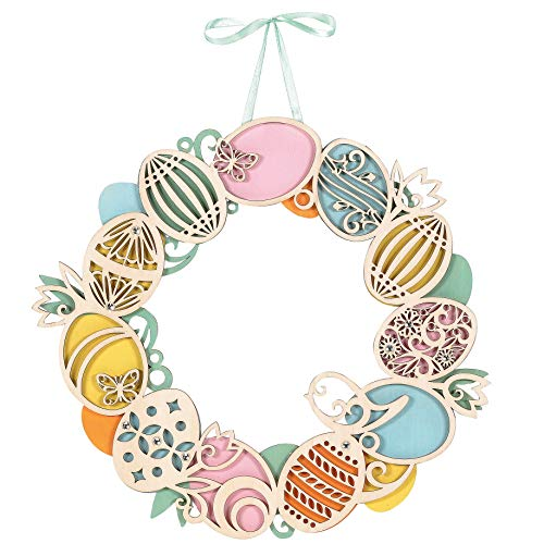 Department 56 Flourish Easter Egg Wreath, 12 Inch, Multicolor