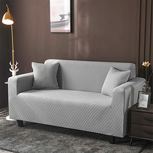 wjwzl Chaiselongue-Sofaüberwurf, elastisch, rutschfest, für Wohnzimmer, Schlafzimmer, Sofa, (3 Sitze)+(4 Sitze)